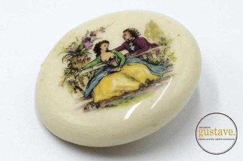 Broche en céramique vintage