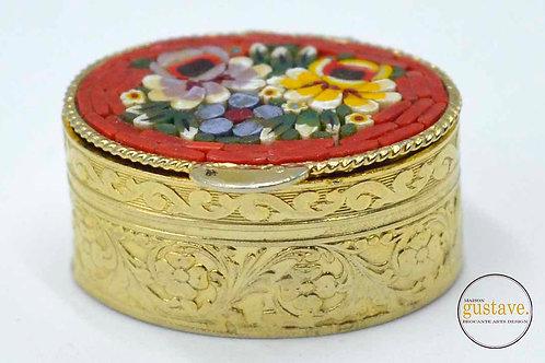 Pilulier vintage mosaïque de céramiques