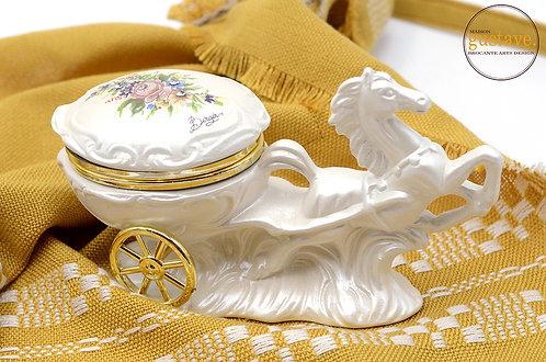 Cheval boîtier en porcelaine italienne, Berger