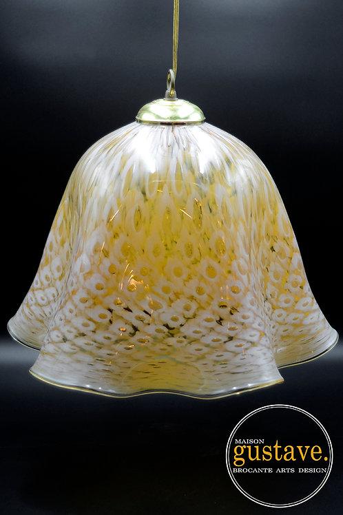 Luminaire suspendu en verre soufflé