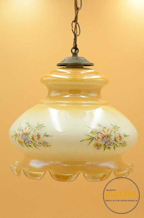 Luminaire en verre vintage