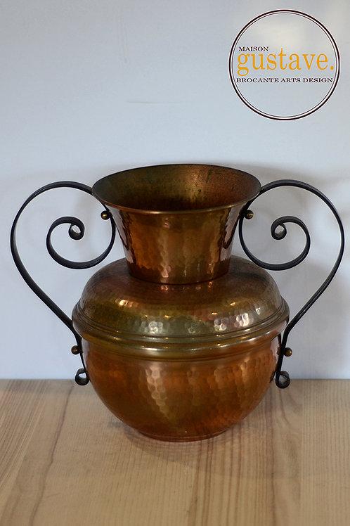 VENDU- Vase en cuivre martelé Gaor