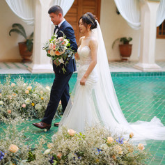 Elopement in a Marrakech medina riad with florals by Le Kiosque à Fleurs Marrakech | Catherine Villier  Photos provided by client.