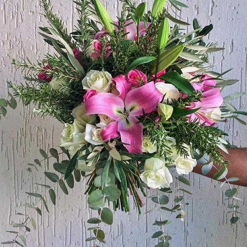 Bouquet standard rose et blanc