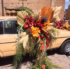 We took some big tropical themed bouquets to the streets of Marrakech as part of an initiative by the Ministry of Tourism and Agora Films.