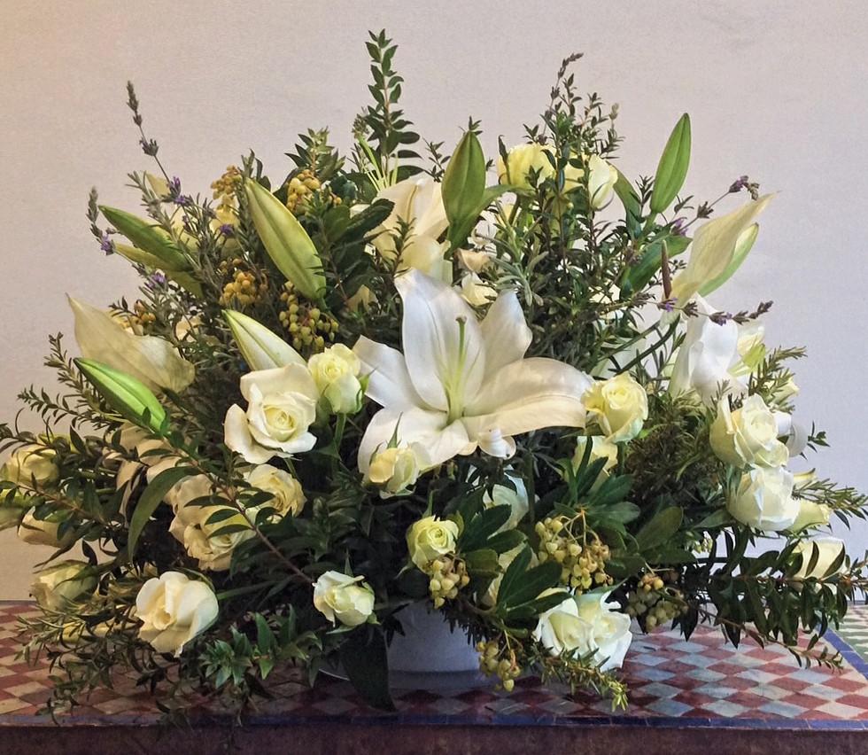 Composition bouquet rond classique