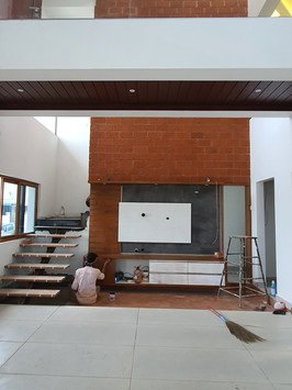 Tv unit Wall : Double height