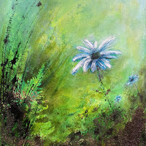 Solitude - blue daisy