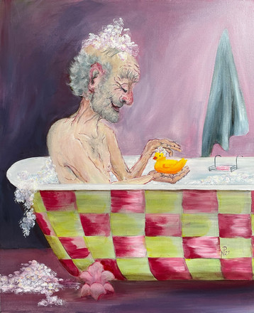 The chequered bath