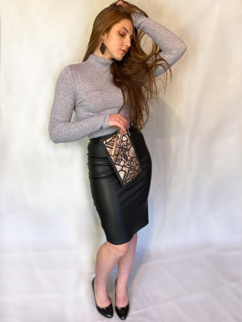Transcendence Clutch and Earrings