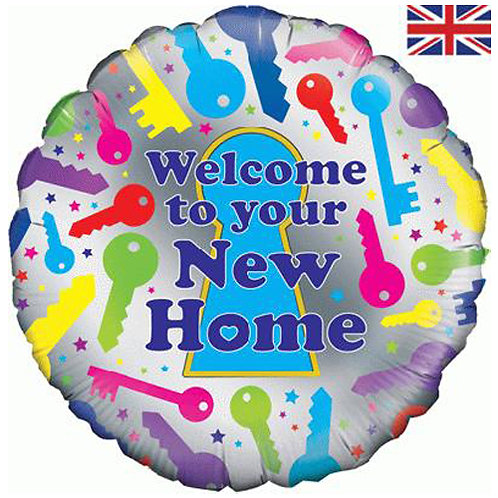 """Welcome to your new home Foil Balloon 18"""""""