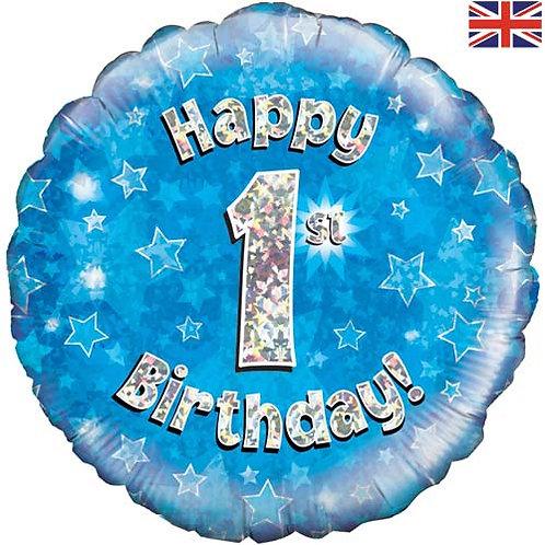 "Blue Happy Birthday Foil Balloon 18"""