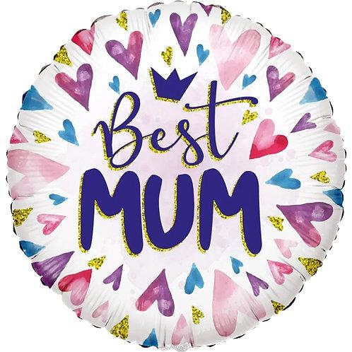"""18"""" Best Mum Foil Balloon"""