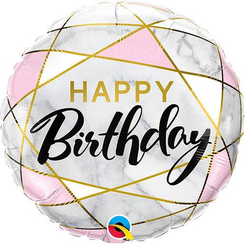 "Happy Birthday Foil Balloon 18"""
