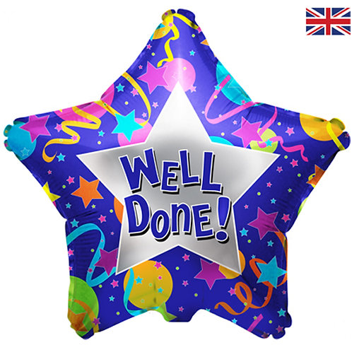 """Well Done Star Foil Balloon 18"""""""