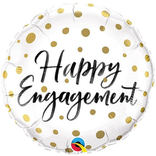 "Happy Engagement Foil Balloon 18"""