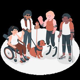 Groupe de personnes en situation de handicap