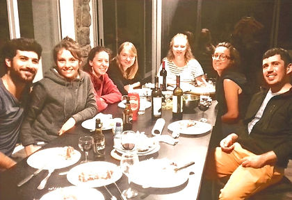 Novovento dinner with guests
