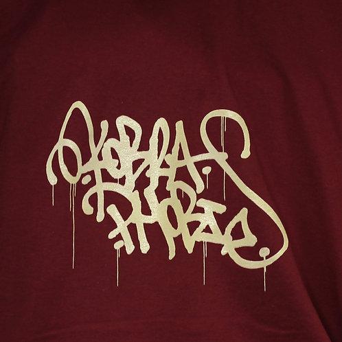 T-shirt Bordeau de 7 ans a XXL