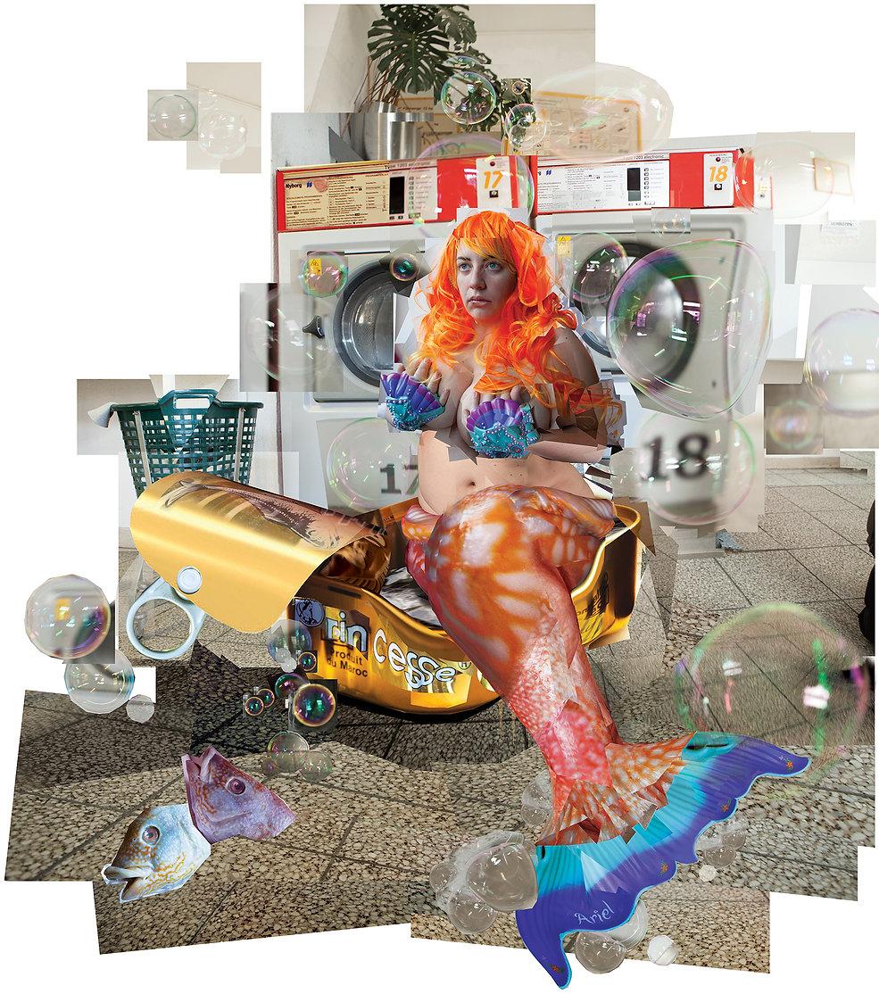 Little Mermaid, fish, feminist, soul, laundromat, Vienna, Austria, Ariel, tinned sardines