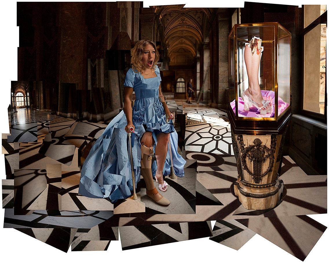 Cinderella, fairytale, Brothers Grimm, amputee, prosthetic leg, Kunsthistorisches Museum, glass slipper, marriage