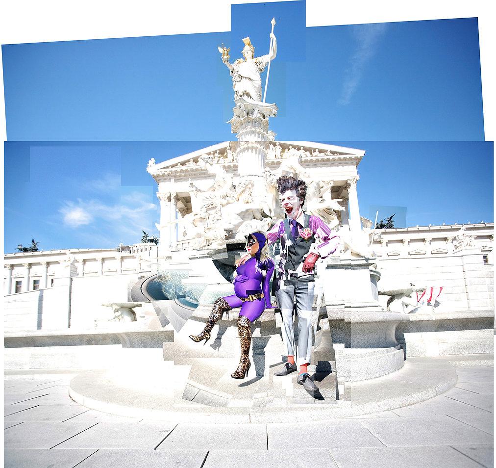 Catwoman, Joker, Anne Hathaway, DC Comics, Austrian Parliament, pregnancy, young love, Österreichischen Parlament,