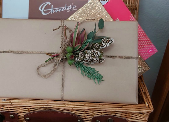 Boxed chocolates gift wrapped