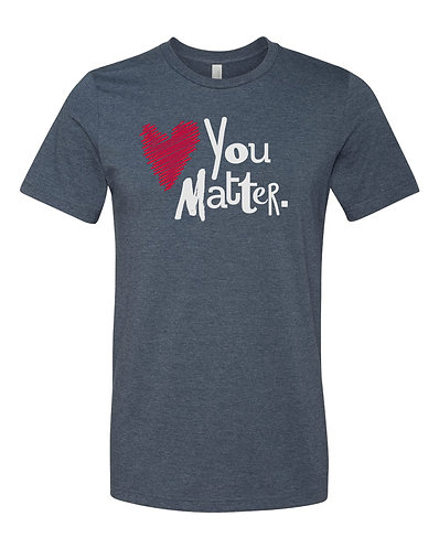 Navy You Matter Short-Sleeve Tee, Red & White
