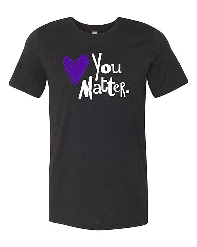 Black You Matter Short-Sleeve Tee, Purple & White