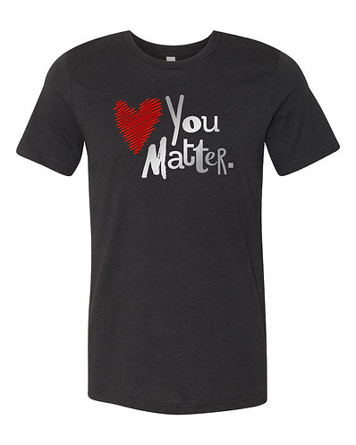 Black You Matter Short-Sleeve Tee, Red & Silver