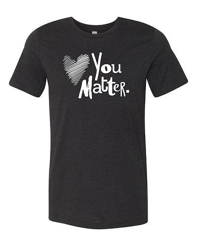 Black You Matter Short-Sleeve Tee, Silver & White