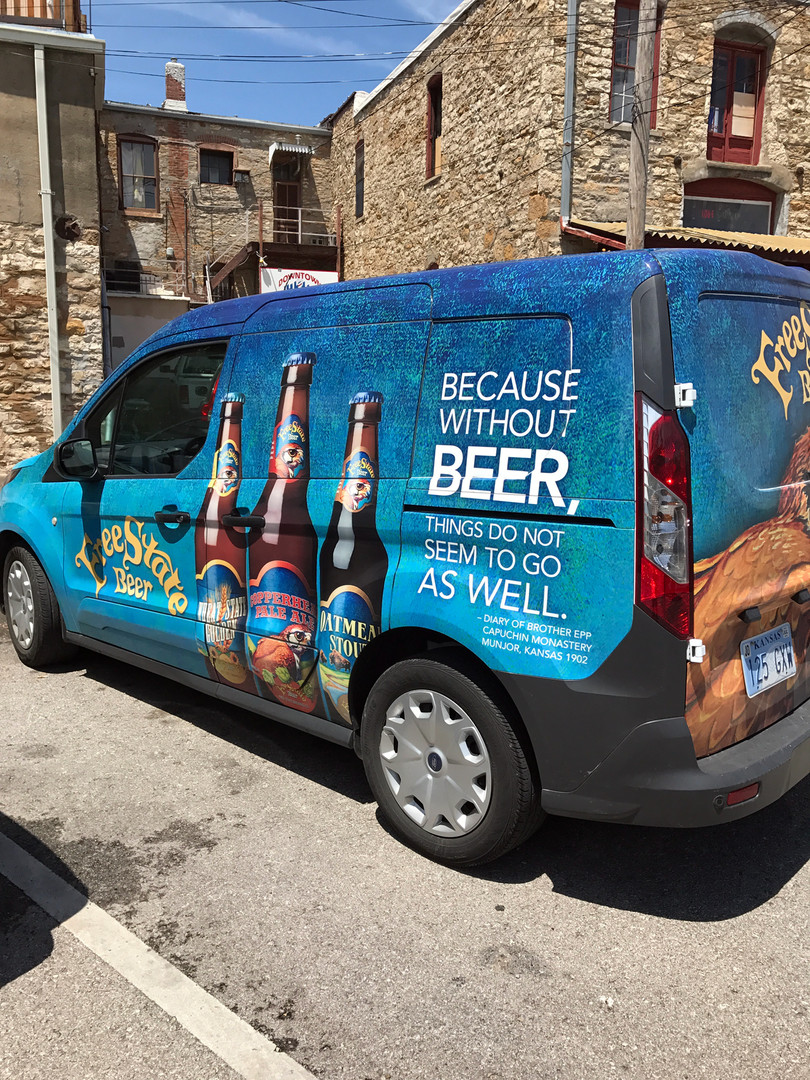 Free State Brewing Vehicle Wrap