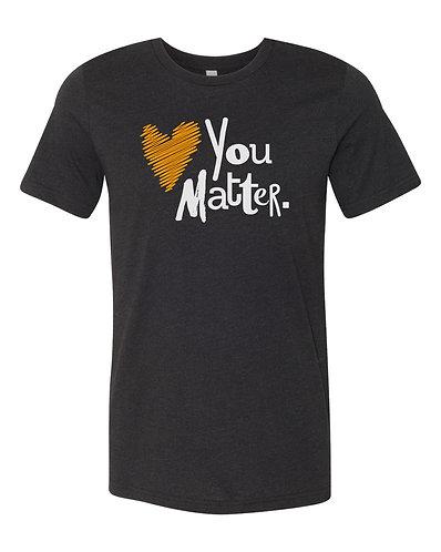 Black You Matter Short-Sleeve Tee, Orange & White