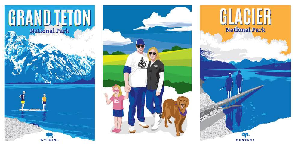 State Park + Family Posters