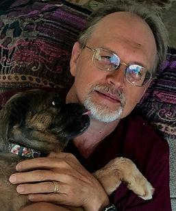 David Whiteside and Trixie the Paleo55plus Dog