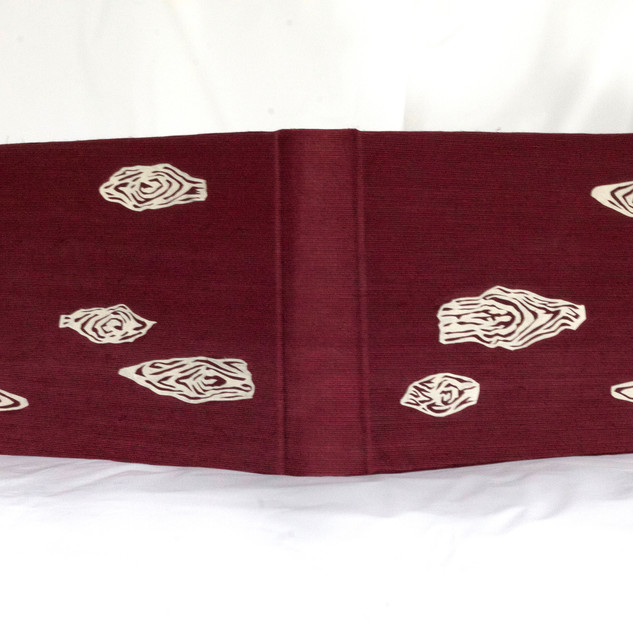 Book silk with paper wood grain cut outs