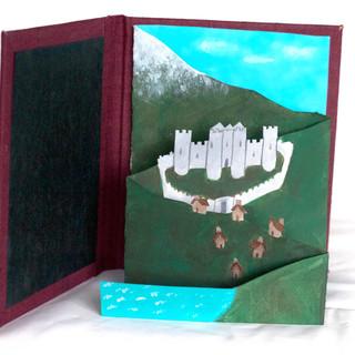 Accordian paper castle