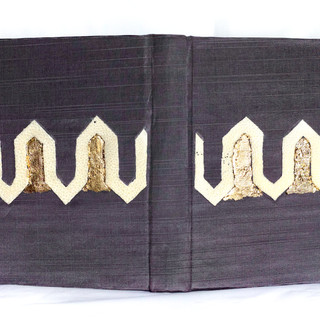 Book silk with sting ray skin and gold leaf