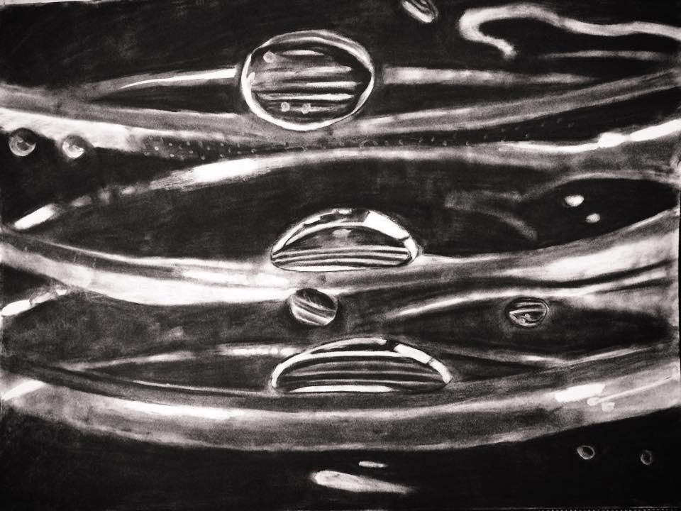 Water bottle droplets
