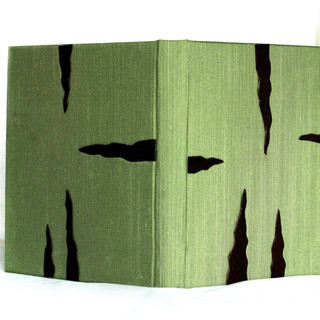 Book silk with treated leather