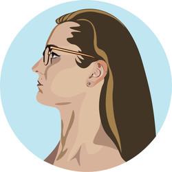 I made this self portrait as a logo