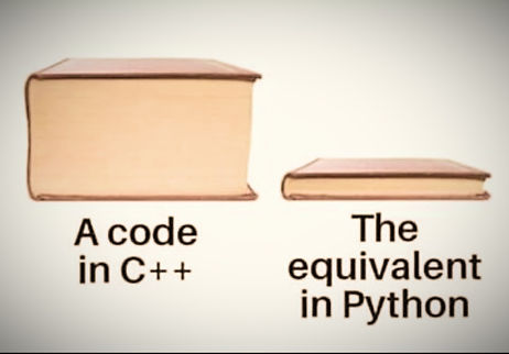 Difference between python and other languages, coding length difference
