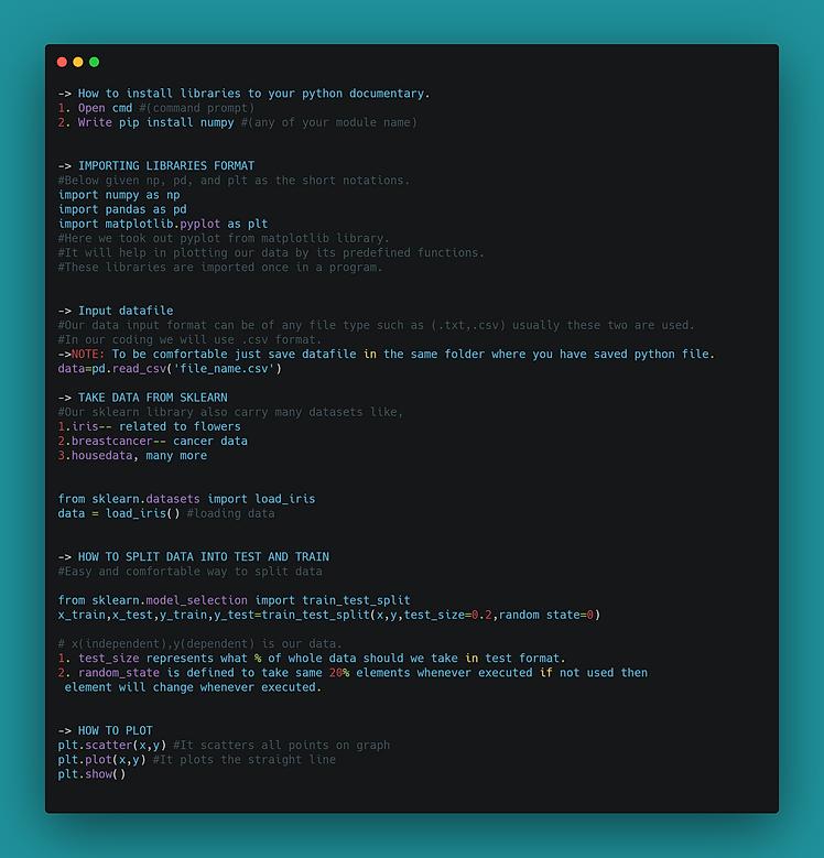 basic of Machine coding