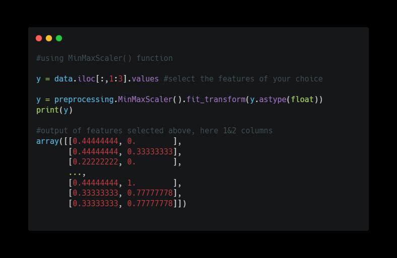 Data Normalization in python