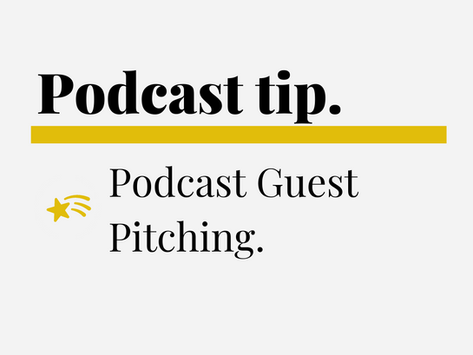 Podcast Guest Pitching