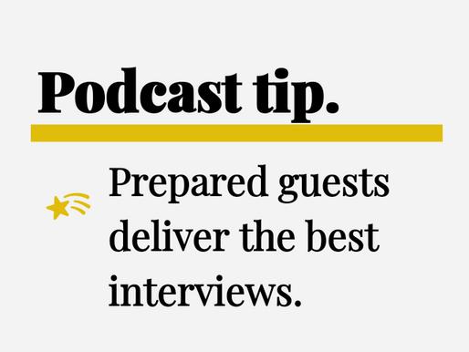 Podcast Interview Prep
