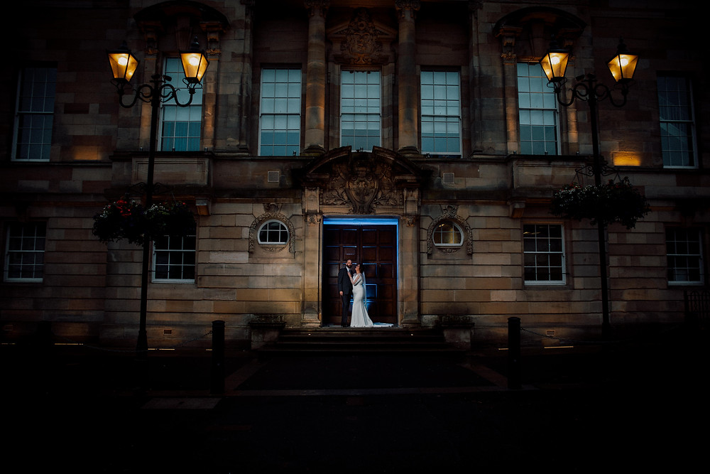 wedding at Airdrie Town Hall