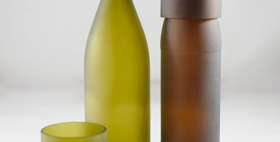 FROSTED WINE BOTTLE WATER CARAFE - JUG SET