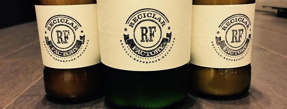 100 % Soy Wax Candles-Recycled Wine Bottle - Lavender Eucalyptus Rose Mandarin c