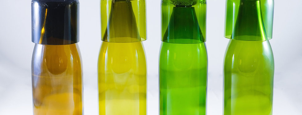 RECYCLED WINE BOTTLE Carafe Water Flask- Jug Set with 8 oz Glasses